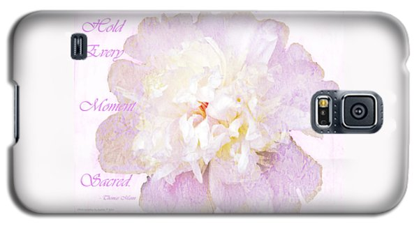 Such A Pretty Peony - Inspirational Quote Galaxy S5 Case
