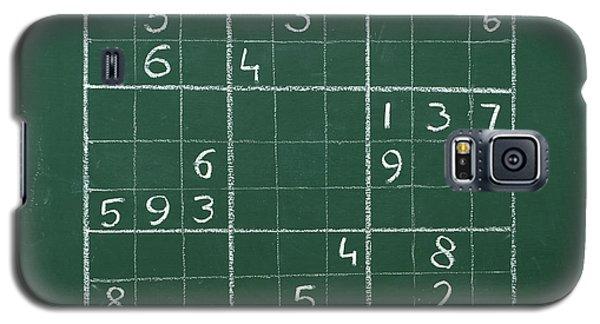 Sudoku On A Chalkboard Galaxy S5 Case