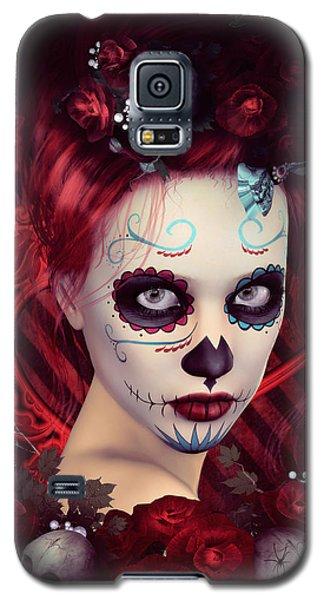 Sugar Doll Red Galaxy S5 Case by Shanina Conway
