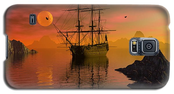 Galaxy S5 Case featuring the digital art Summer Anchorage by Claude McCoy