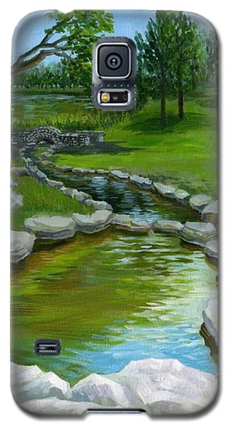 Galaxy S5 Case featuring the painting Summer At Saint Louis Forest Park  by Ping Yan