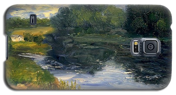 Galaxy S5 Case featuring the painting Summer At Jackson Lake by Gail Kirtz