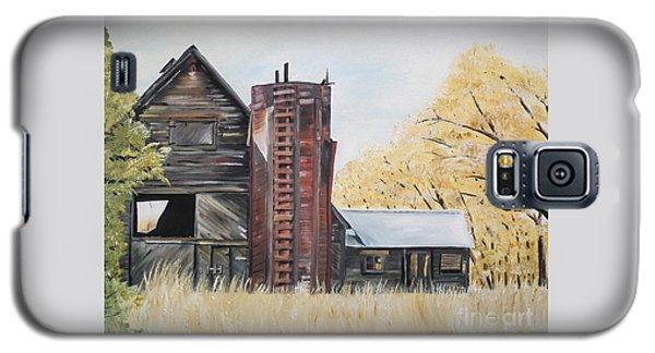 Golden Aged Barn -washington - Red Silo  Galaxy S5 Case
