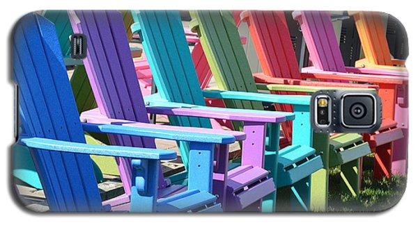Galaxy S5 Case featuring the photograph Summer Beach Chairs by Jeannie Rhode
