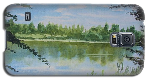 Galaxy S5 Case featuring the painting Summer By The River by Martin Howard