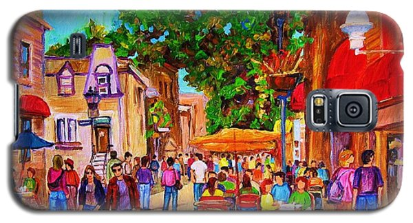 Galaxy S5 Case featuring the painting Summer Cafes by Carole Spandau