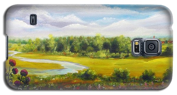 Galaxy S5 Case featuring the painting Summer Day by Vesna Martinjak