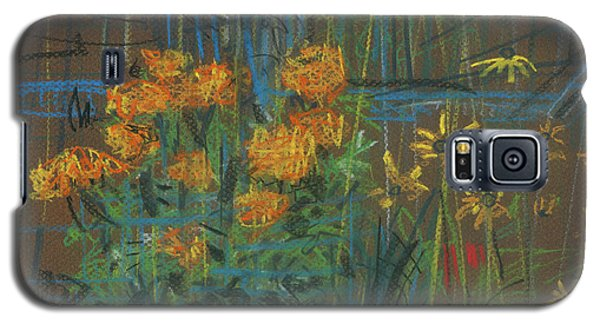 Galaxy S5 Case featuring the painting Summer Flowers by Donald Maier