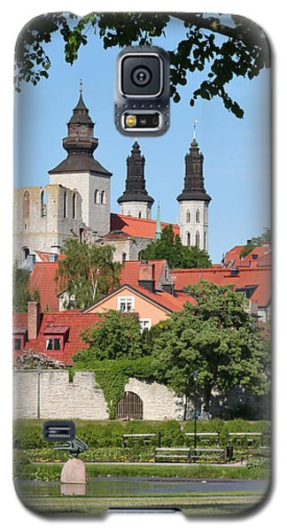 Summer Green Medieval Town Galaxy S5 Case