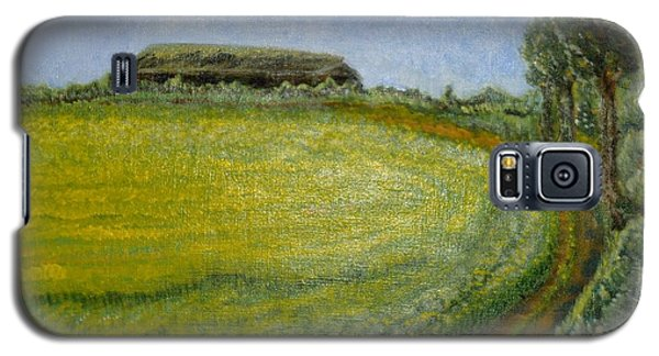 Galaxy S5 Case featuring the painting Summer In Canola Field by Felicia Tica