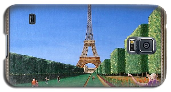 Galaxy S5 Case featuring the painting Summer In Paris by Ron Davidson