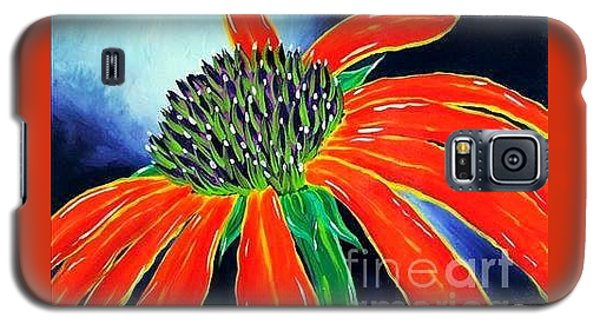 Galaxy S5 Case featuring the painting Summer Kissed Cone Flower by Jackie Carpenter