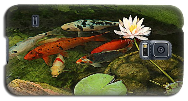 Summer Koi And Lilly Galaxy S5 Case