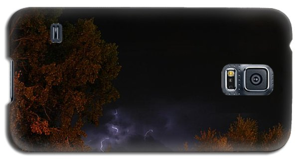 Galaxy S5 Case featuring the photograph Summer Lightning Storm by Ramona Whiteaker