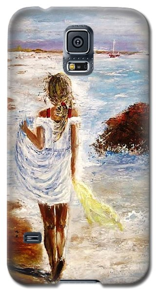 Galaxy S5 Case featuring the painting Summer Memories by Cristina Mihailescu