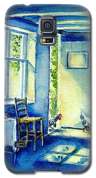 Galaxy S5 Case featuring the painting Summer Morning Visitors  by Trudi Doyle