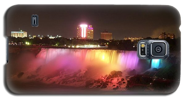 Summer Night In Niagara Falls Galaxy S5 Case by Lingfai Leung