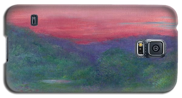Galaxy S5 Case featuring the painting Summer Nocturne by Judith Cheng