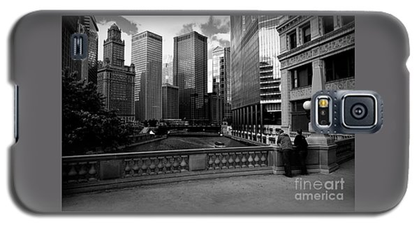 Summer On The Chicago River - Black And White Galaxy S5 Case