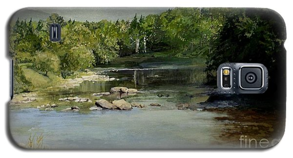 Summer On The River In Vermont Galaxy S5 Case