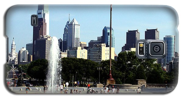 Galaxy S5 Case featuring the photograph Summer Philly Skyline by Christopher Woods