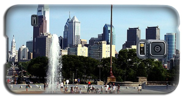 Summer Philly Skyline Galaxy S5 Case by Christopher Woods