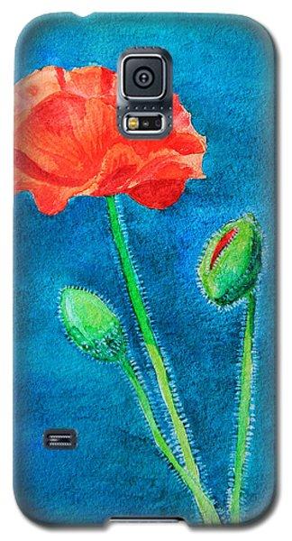 Summer Poppy Galaxy S5 Case