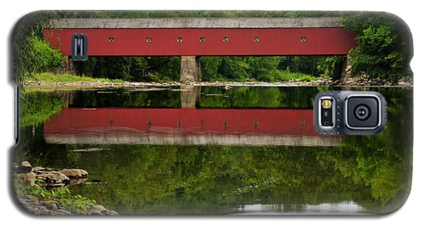 Summer Reflections At West Cornwall Covered Bridge Galaxy S5 Case