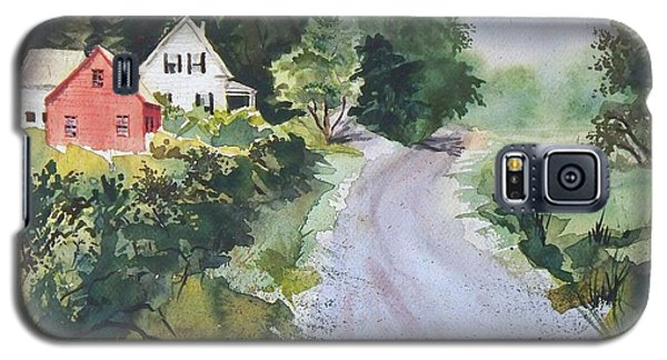 Galaxy S5 Case featuring the painting Summer Road by Joy Nichols