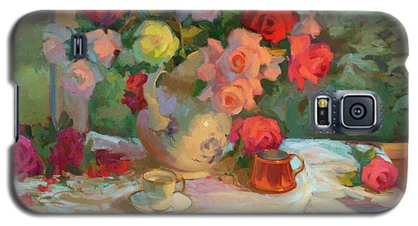 Summer Roses Galaxy S5 Case by Diane McClary