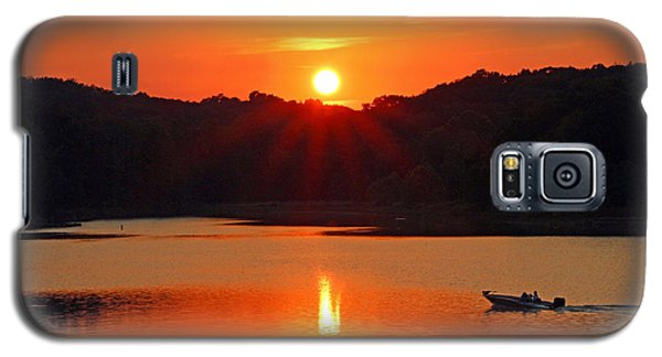Summer Star Burst Sunset With Signature Galaxy S5 Case