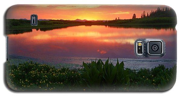 Summer Sunset Above Lake Creek. Galaxy S5 Case