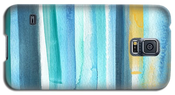 Galaxy S5 Case - Summer Surf- Abstract Painting by Linda Woods