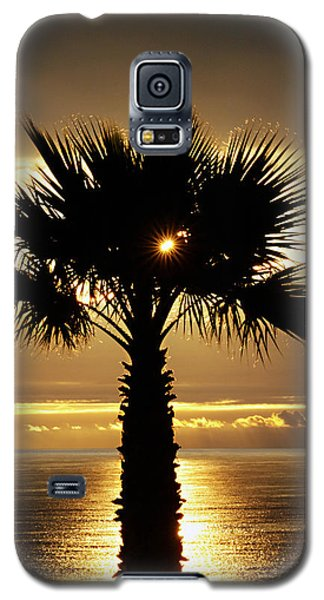 Sun And Palm And Sea Galaxy S5 Case