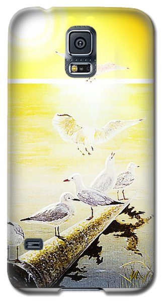 Galaxy S5 Case featuring the painting Sun Birds by Hartmut Jager