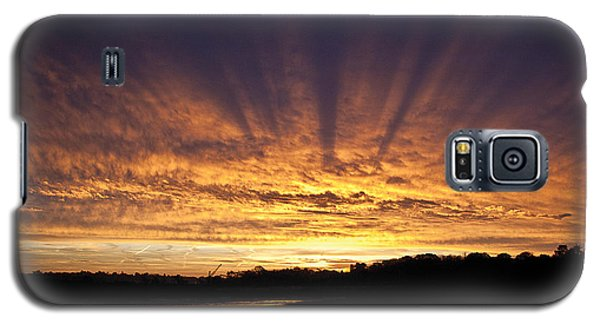Galaxy S5 Case featuring the digital art Sun Blast by David Davies