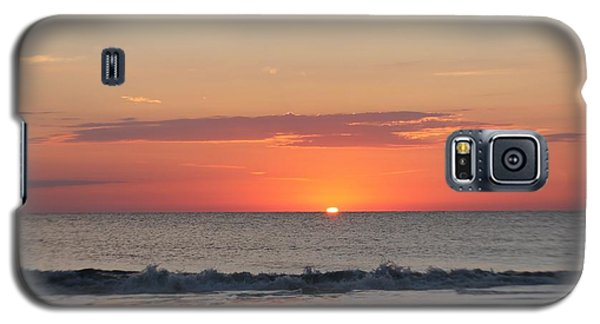 Galaxy S5 Case featuring the photograph Sun Breaks Horizon by Robert Banach
