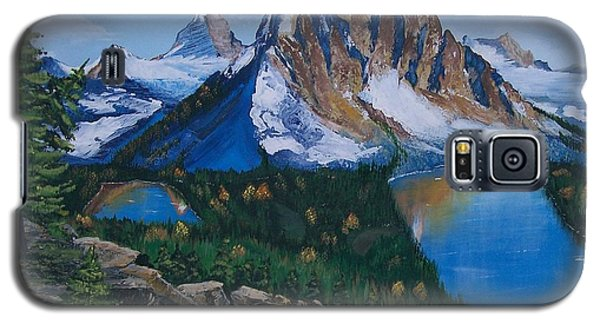 Galaxy S5 Case featuring the painting Sun Burst Peak by Sharon Duguay