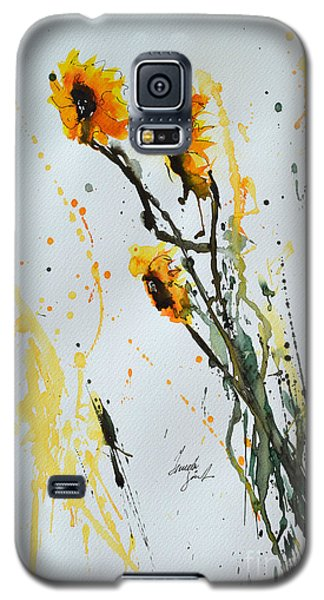 Sun-childs- Flower Painting Galaxy S5 Case