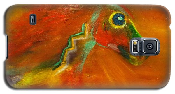 Galaxy S5 Case featuring the painting Sun Dance by Barbie Batson