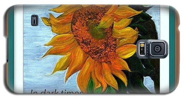 Galaxy S5 Case featuring the painting Sun Flower by Denise Tomasura
