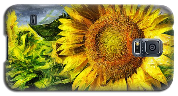 Sunflower Drawing  Galaxy S5 Case