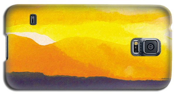 Galaxy S5 Case featuring the painting Sun Glazed by The Art of Marsha Charlebois
