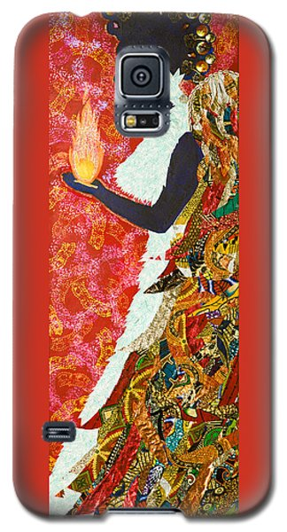 Galaxy S5 Case featuring the tapestry - textile Sun Guardian - The Keeper Of The Universe by Apanaki Temitayo M