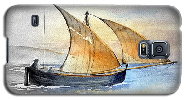 Galaxy S5 Case featuring the painting Sun In The Sails  by Eleonora Perlic