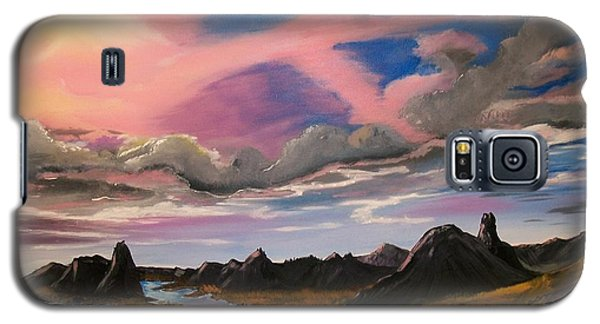 Galaxy S5 Case featuring the painting Sun Jet by Sharon Duguay
