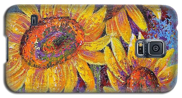 Galaxy S5 Case featuring the painting Sun-kissed Beauties by Margaret Bobb