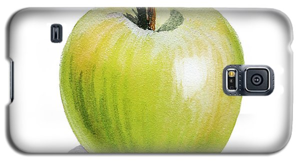 Galaxy S5 Case featuring the painting Sun Kissed Green Apple by Irina Sztukowski