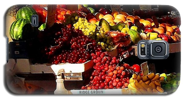Galaxy S5 Case featuring the photograph Sun On Fruit Close Up by Miriam Danar