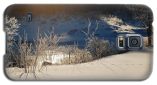 Galaxy S5 Case featuring the photograph Sun On Snow by Mim White